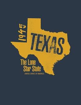 T-shirt Lié Au Texas Vecteur Premium