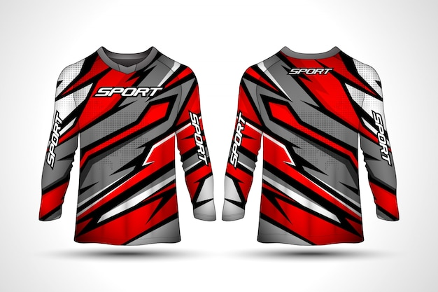 T-shirt à manches longues en jersey de sport