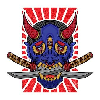 T-shirt masque hannya