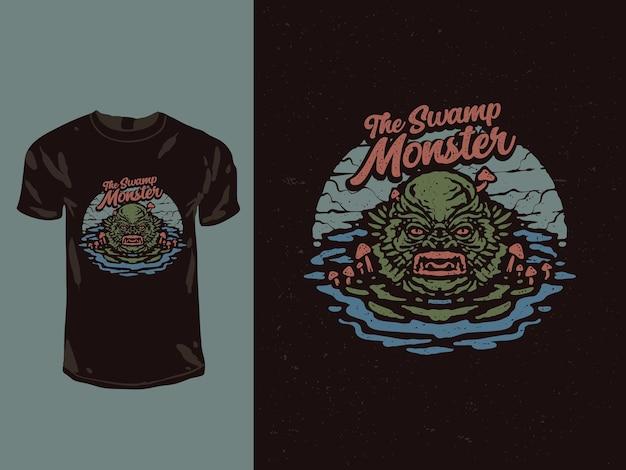 T-shirt le monstre des marais
