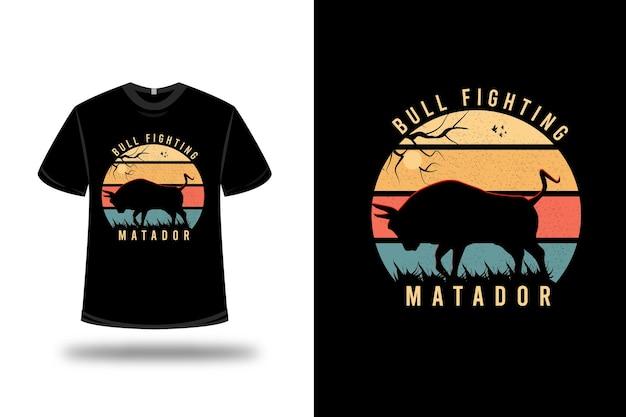 T-shirt avec motif taureau matador coloré