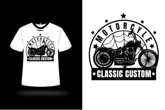 T-shirt moto classique couleur personnalisée noir