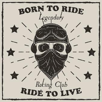 T-shirt moto vintage grunge