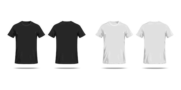 T-shirt noir et blanc.