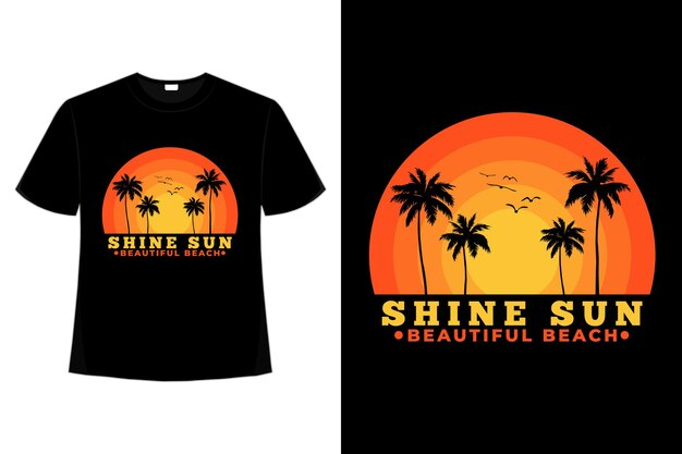 T-shirt plage briller soleil beau ciel