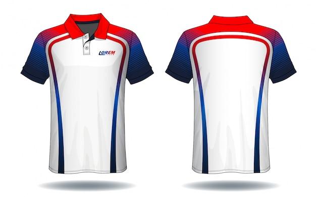 T-shirt polo design, modèle de jersey de sport.