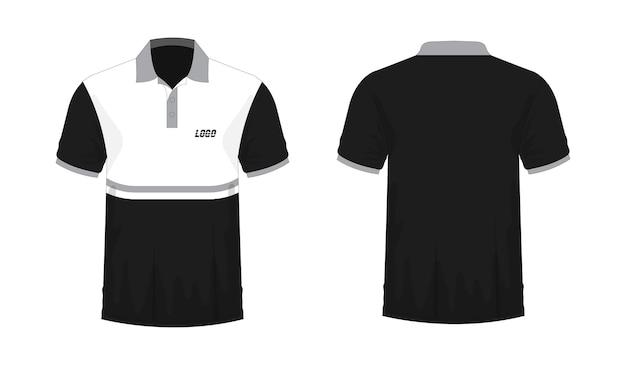 T-shirt polo modèle gris et noir pour la conception sur fond blanc. illustration vectorielle eps 10.