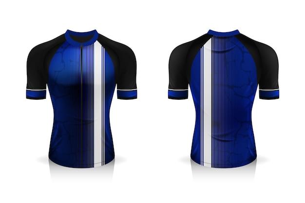 T-shirt de sport à col rond pour vêtements de vélo.