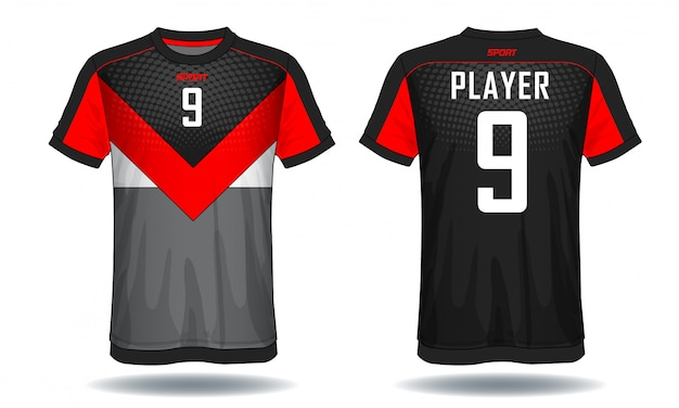 T-shirt de sport en jersey de football.