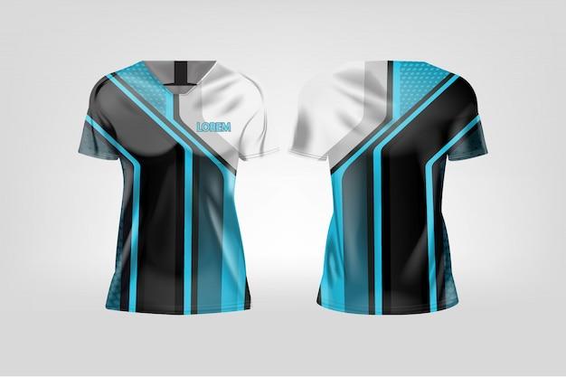 T-shirt sport pour les femmes, maillot de football pour club de football.