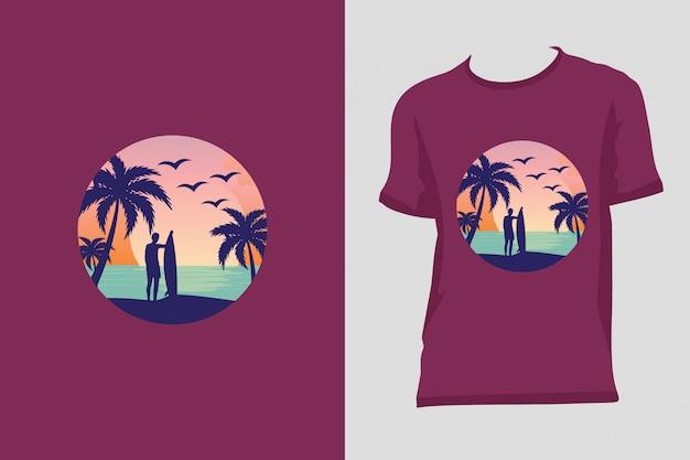 T-shirt de surf premium