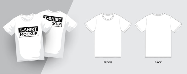 T-shirt template contour contour illustrations