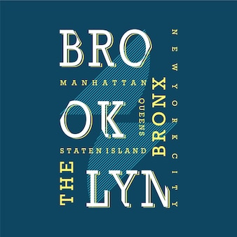 T-shirt texte brooklyn