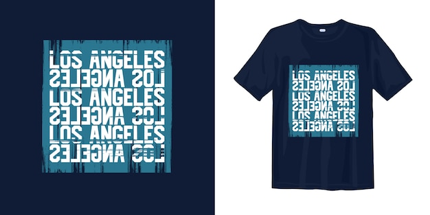 T-shirt typographie graphique los angeles