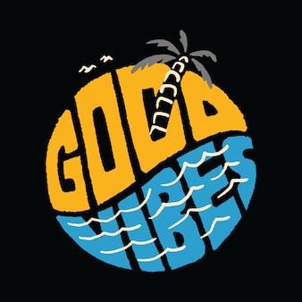T-shirt typographie vacances d'été plage mer illustration art