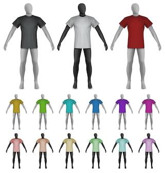 T-shirt uni sur le modèle de torse de mannequin