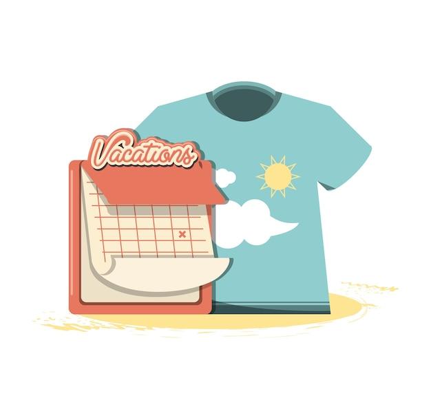 T-shirt de vacances avec nuages