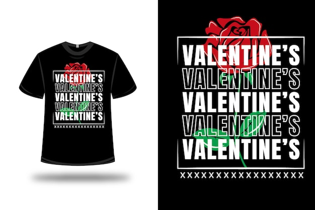 T shirt valentines rose