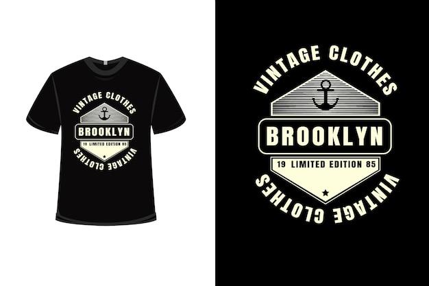 T-shirt vintage vêtements brooklyn édition limitée couleur crème