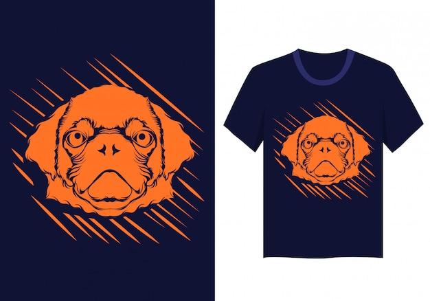 T-shirt visage de chien