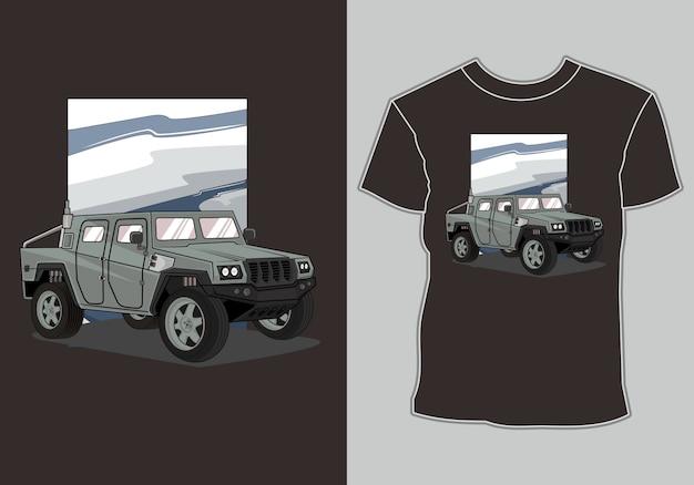 T-shirt de voiture militaire
