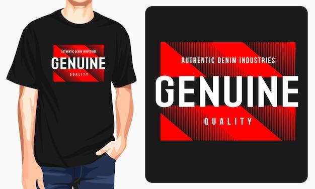 T-shirts graphiques authentiques des industries du denim