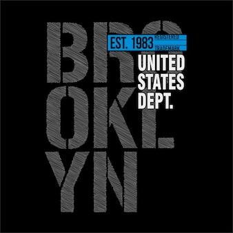 T-shirts graphiques - brooklyn