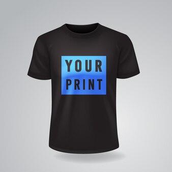 T-shirts noirs à manches courtes maquette