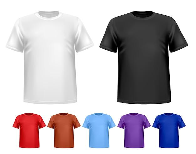 T-shirts polo homme noir et blanc et couleur
