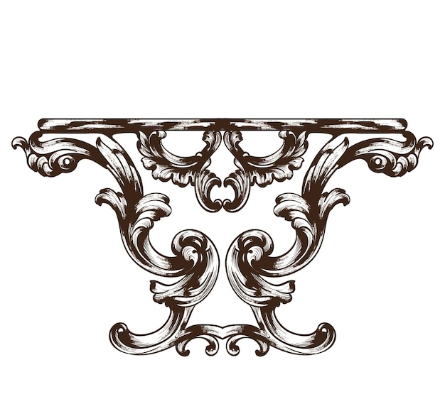 Table baroque vintage