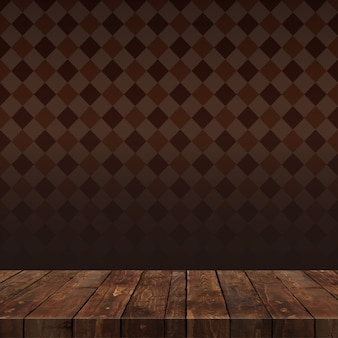 Table en bois avec fond