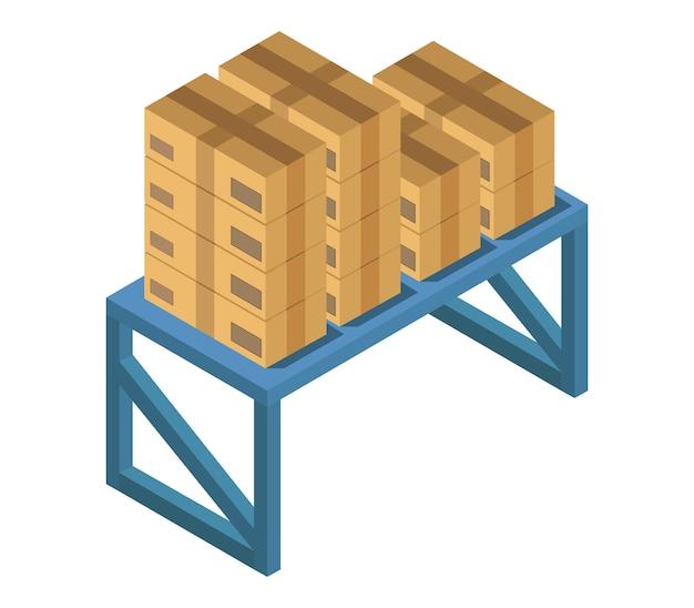 Table avec boîtes isométriques
