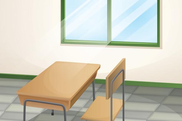 Table et chaise dans la chambre