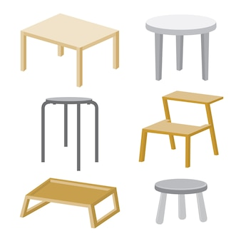 Table chaise meubles bois