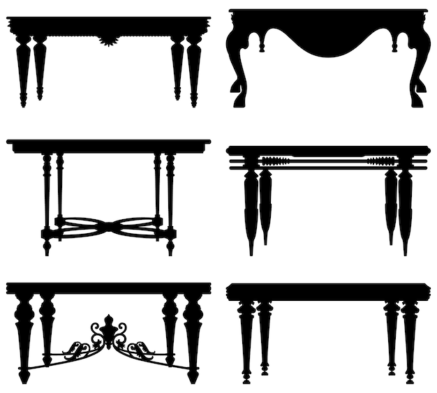 Table classique antique antique.