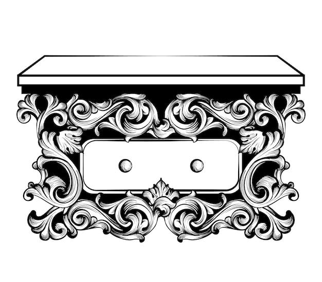 Table console baroque impériale
