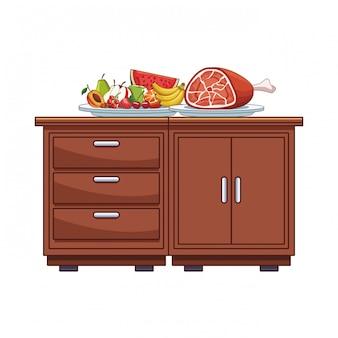 Table de cuisine avec de la nourriture
