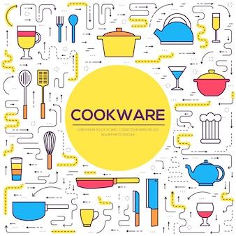 Table de cuisine ustensiles de cuisine pour cuisiner dans les contours de la maison.