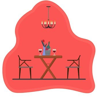 Table de dîner romantique