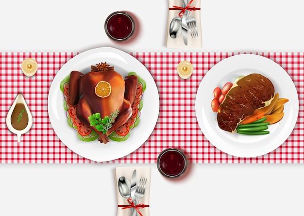 Table à manger vue top