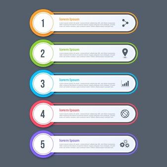 Table des matières plate infographique