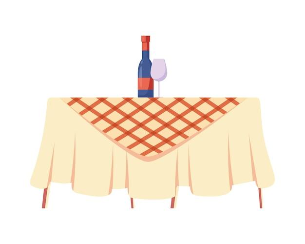 Table de pique-nique avec boissons