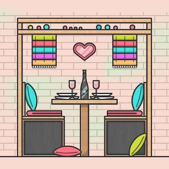 Table de restaurant romantique