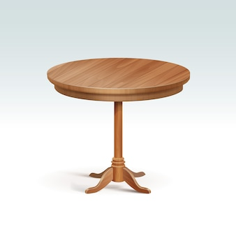 Table ronde en bois vide