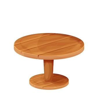 Table rustique ronde en bois de style dessin animé meubles texturés
