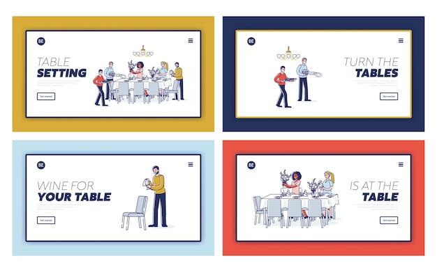 Table de service pour service de table service de vaisselle et décoration