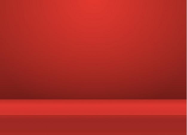Table de studio de couleur vive vide