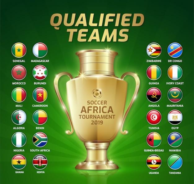 Tableau d'affichage du tournoi de football en afrique