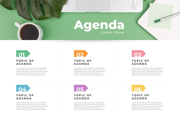 Tableau de l'agenda