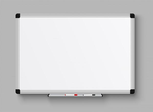 Tableau blanc de bureau réaliste.